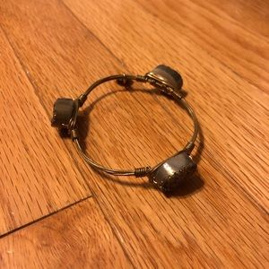 Bourbon and Bowties Bracelet (Grey / Bronze Gems)